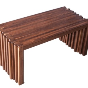 Staggered coffee table in Walnut